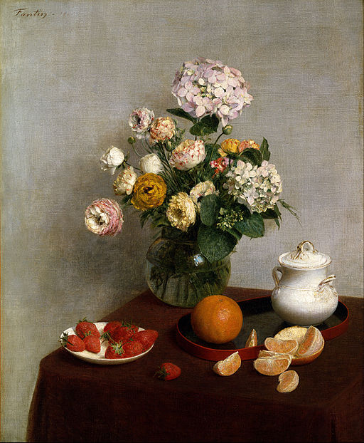 Henri Fantin Latour Flowers and Fruit