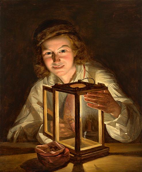 Ferdinand Georg Waldmueller Selbstbildnis mit Laterne