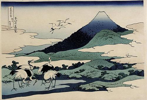 Umegawa in de provincie Sagami