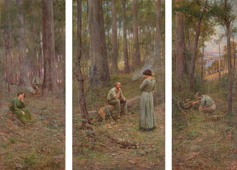 FREDERICK MCCUBBIN'S VIVIDLY EVOCATIVE IMPRESSIONIST PAINTINGS OF THE AUSTRALIAN BUSH