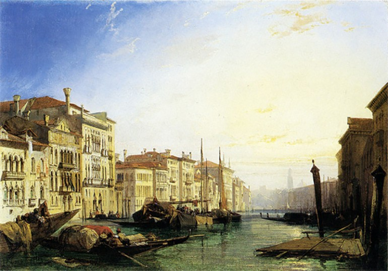 RICHARD PARKES BONINGTON, ENGLISH ROMANTIC WATERCOLORIST WHO INTRODUCED WATERCOLOR LANDSCAPE AND PLEIN AIR PAINTING TO FRANCE