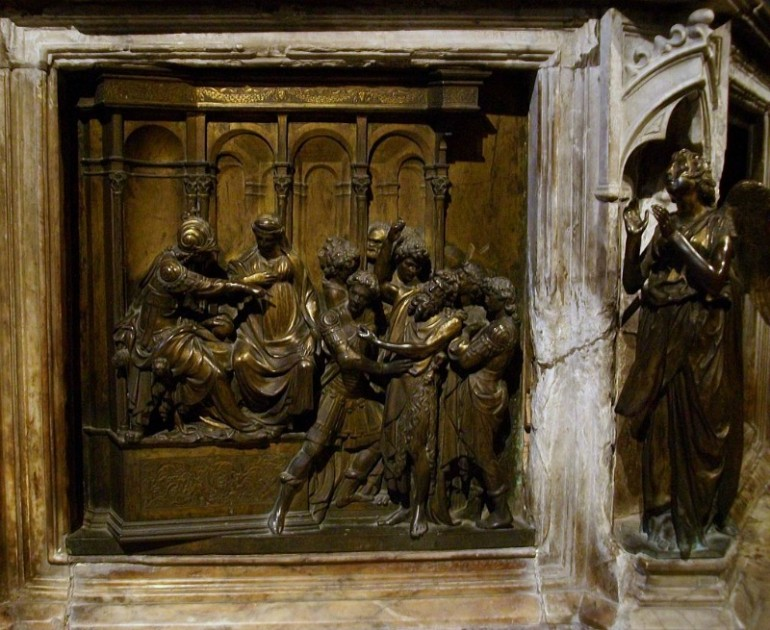GATES OF PARADISE CREATOR LORENZO GHIBERTI, A VERY IMPORTANT QUATTROCENTO FLORENTINE SCULPTOR