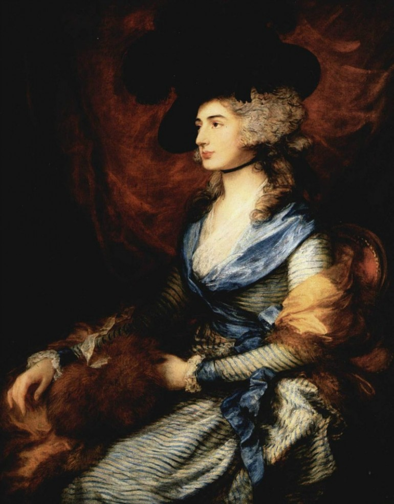 THOMAS GAINSBOROUGH, BRILLIANT ENGLISH PORTRAITIST, A RIVAL OF JOSHUA REYNOLDS AND A ROYAL ACADEMY FOUNDING MEMBER