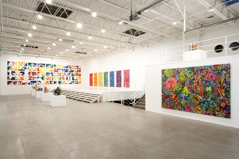 AMERICAN ARTIST RYAN MCGINESS PLAYS WITH THE COLORS OF THE RAINBOW LIKE NO OTHER