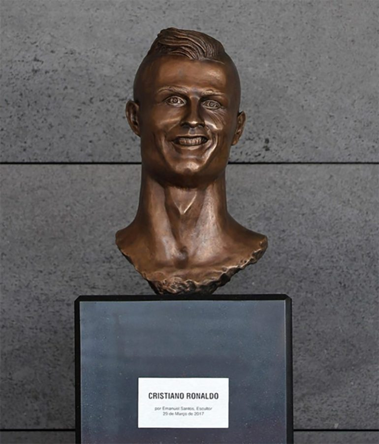Cristiano Ronaldo's Botched Sculpture Will Make You Scream in Horror