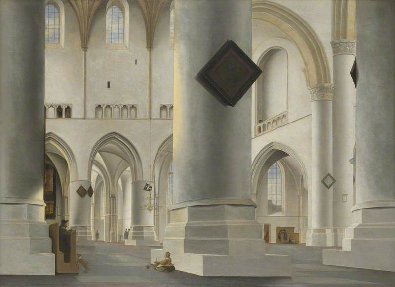 Saenredam, Pieter Jansz.; The Interior of the Grote Kerk at Haarlem; The National Gallery, London; http://www.artuk.org/artworks/the-interior-of-the-grote-kerk-at-haarlem-115666