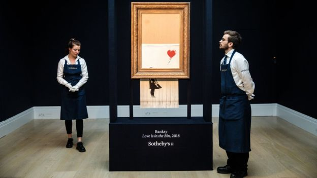 Banksy And Sotheby Denies Collusion With Girl With Balloon Shredding