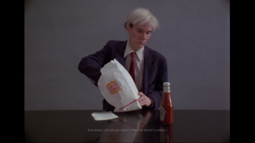 Andy Warhol is Back in the News, and He's Eating a Burger