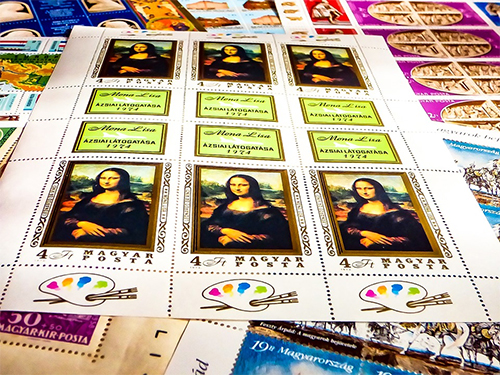 Mona Lisa Stamp