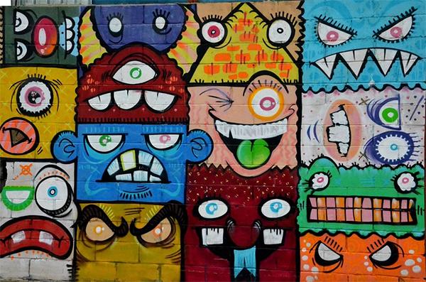 Streetart Multicolored