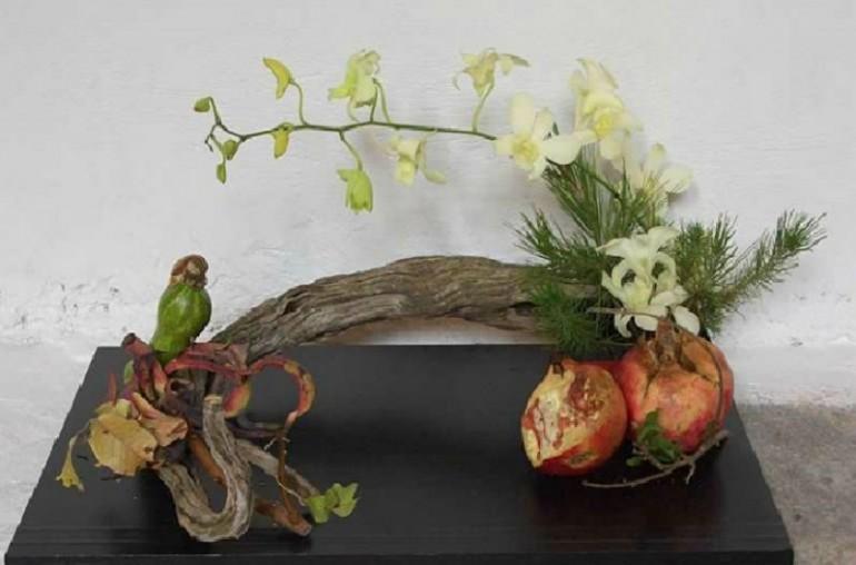 IKEBANA, THE HIGHLY DISCIPLINED ART OF JAPANESE FLOWER ARRANGEMENT