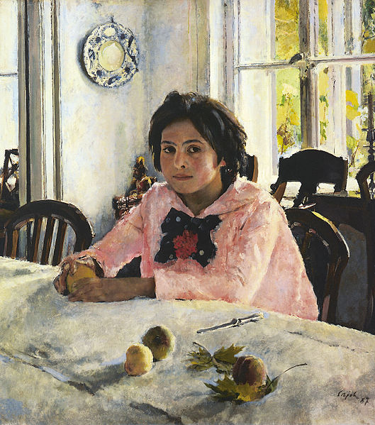 Walentin Alexandrowitsch Serow Girl with Peaches
