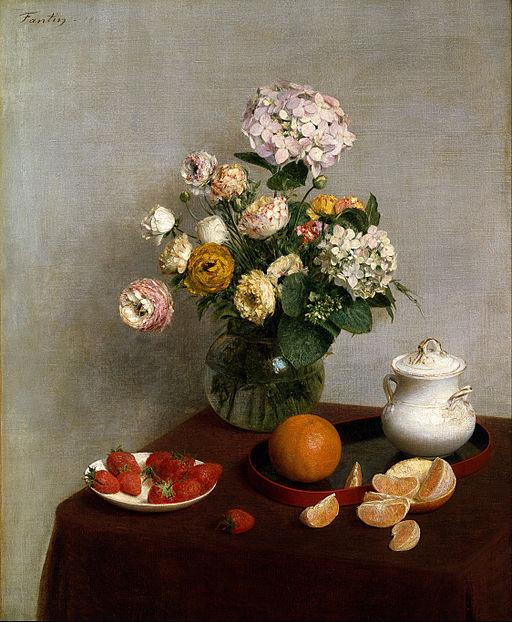 Henri Fantin Latour Flowers and Fruit
