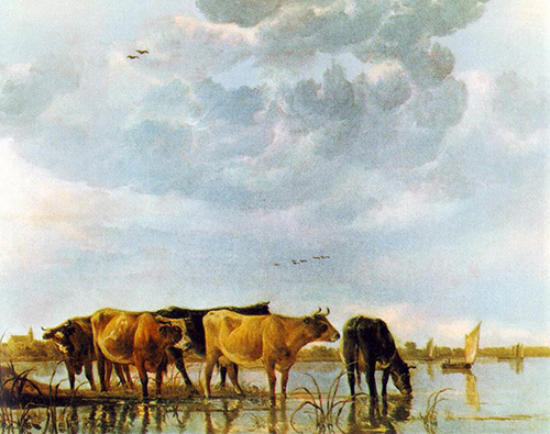 Aelbert Cuyp - Cows in the Water