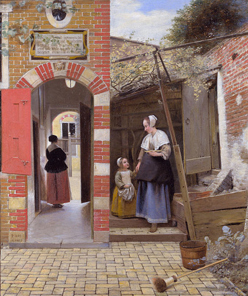 THE GREAT SKILL IN PERSPECTIVE, COLOR AND LIGHT OF DUTCH OLD MASTER PIETER DE HOOCH