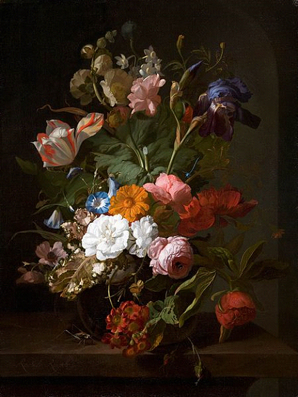 RACHEL RUYSCH, THE GREATEST OF THE FEMALE DUTCH GOLDEN  AGE REALIST PAINTERS