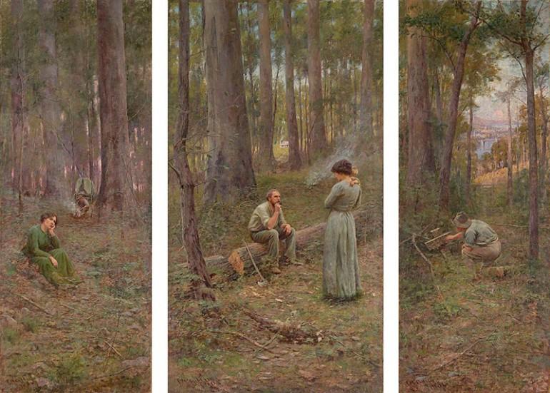 FREDERICK MCCUBBIN'S VIVIDLY EVOCATIVE IMPRESSIONIST PAINTINGS OF THE AUSTRALIAN BUSH