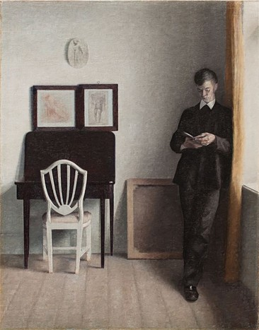 THE SUBDUED, POETIC, BLUE AND GRAY INTERIORS AND PORTRAITS OF VILHELM HAMMERSHØI