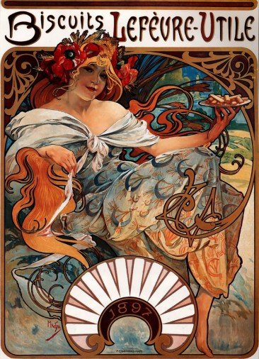 THE RICHLY DECORATED POSTERS OF ALPHONSE MUCHA AND HIS ARCHETYPAL ART NOUVEAU DECORATIVE ART TECHNIQUE