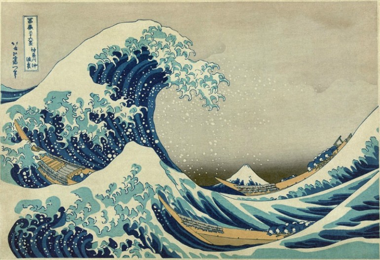 WHEN THE EAST MET THE WEST: HOKUSAI'S THE GREAT WAVE