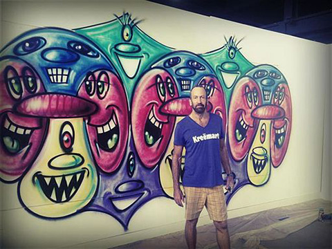 kenny-scharf-and-mural