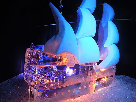 Ice Sculpture Ship