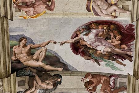 Adam Creation Sistine Chapel ceiling