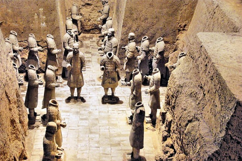 EXPERTS SAY ANCIENT GREEKS HELPED DESIGN THE TERRACOTTA ARMY OF CHINA