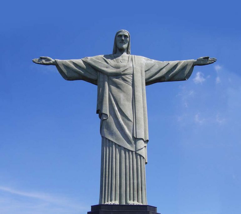 THE WORLD'S MOST POPULAR RELIGIOUS SYMBOL:  THE STATUE OF CHRIST THE REDEEMER