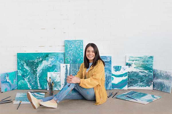 Photo of Student in Art School